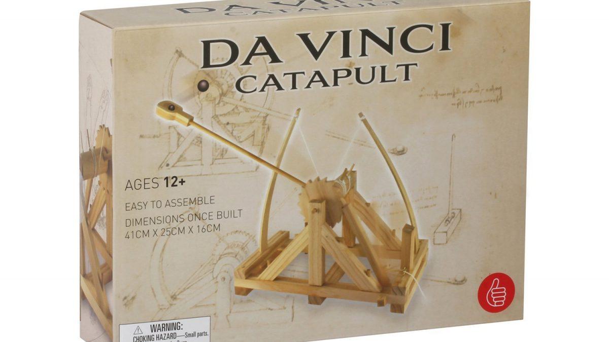 Kit catapulta in legno di Leonardo Da Vinci